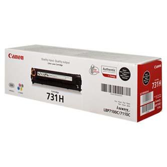 Canon CRG-731H 6273B002 čierný (black) originálny toner Originálny toner pre tlačiareň Canon.   Prečo kúpiť našu originálnu náplň?      Originálny toner = záruka priamo od výrobcu tlačiarne 100% použitie v tlačiarni - bezproblémové fungovanie s vašou tlačiarňou Použitím originálnej náplne predlžujete životnosť tlačiarne Osvedčená špičková kvalita - vysokokvalitná a spoľahlivá tlač originálnou tlačovou kazetou od prvej do poslednej stránky Trvalé a profesionálne výsledky tlače - dlhodobá udržateľnosť tlače Kratšie zdržanie pri tlači stránok Garancia Vašej spokojnosti pri použití našej originálnej náplne Zabezpečujeme bezplatnú recykláciu originálnych náplní Zlyhanie náplne v menej ako 1% prípadov Jednoduchá a rýchla výmena náplne 6273B002