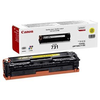 Canon CRG-731 6269B002 žltý (yellow) originálny toner Originálny toner pre tlačiareň Canon.   Prečo kúpiť našu originálnu náplň?      Originálny toner = záruka priamo od výrobcu tlačiarne 100% použitie v tlačiarni - bezproblémové fungovanie s vašou tlačiarňou Použitím originálnej náplne predlžujete životnosť tlačiarne Osvedčená špičková kvalita - vysokokvalitná a spoľahlivá tlač originálnou tlačovou kazetou od prvej do poslednej stránky Trvalé a profesionálne výsledky tlače - dlhodobá udržateľnosť tlače Kratšie zdržanie pri tlači stránok Garancia Vašej spokojnosti pri použití našej originálnej náplne Zabezpečujeme bezplatnú recykláciu originálnych náplní Zlyhanie náplne v menej ako 1% prípadov Jednoduchá a rýchla výmena náplne 6269B002