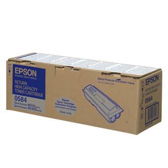 Epson C13S050584 čierný (black) originálny toner Originálny toner pre tlačiareň Epson.   Prečo kúpiť našu originálnu náplň?      Originálny toner = záruka priamo od výrobcu tlačiarne 100% použitie v tlačiarni - bezproblémové fungovanie s vašou tlačiarňou Použitím originálnej náplne predlžujete životnosť tlačiarne Osvedčená špičková kvalita - vysokokvalitná a spoľahlivá tlač originálnou tlačovou kazetou od prvej do poslednej stránky Trvalé a profesionálne výsledky tlače - dlhodobá udržateľnosť tlače Kratšie zdržanie pri tlači stránok Garancia Vašej spokojnosti pri použití našej originálnej náplne Zabezpečujeme bezplatnú recykláciu originálnych náplní Zlyhanie náplne v menej ako 1% prípadov Jednoduchá a rýchla výmena náplne C13S050584
