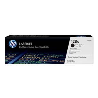 HP 128A CE320AD dvojbalení čierný originálny toner Originálny toner pre tlačiareň HP.   Prečo kúpiť našu originálnu náplň?      Originálny toner = záruka priamo od výrobcu tlačiarne 100% použitie v tlačiarni - bezproblémové fungovanie s vašou tlačiarňou Použitím originálnej náplne predlžujete životnosť tlačiarne Osvedčená špičková kvalita - vysokokvalitná a spoľahlivá tlač originálnou tlačovou kazetou od prvej do poslednej stránky Trvalé a profesionálne výsledky tlače - dlhodobá udržateľnosť tlače Kratšie zdržanie pri tlači stránok Garancia Vašej spokojnosti pri použití našej originálnej náplne Zabezpečujeme bezplatnú recykláciu originálnych náplní Zlyhanie náplne v menej ako 1% prípadov Jednoduchá a rýchla výmena náplne  Kód výrobca: CE320AD