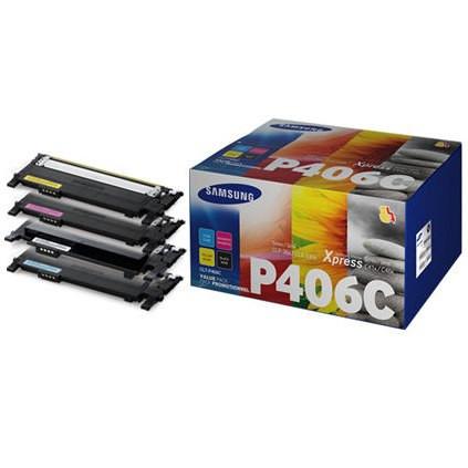HP SU375A / Samsung CLT-P406C CMYK multipack originálny toner Originálny toner pre tlačiareň HP.   Prečo kúpiť našu originálnu náplň?      Originálny toner = záruka priamo od výrobcu tlačiarne 100% použitie v tlačiarni - bezproblémové fungovanie s vašou tlačiarňou Použitím originálnej náplne predlžujete životnosť tlačiarne Osvedčená špičková kvalita - vysokokvalitná a spoľahlivá tlač originálnou tlačovou kazetou od prvej do poslednej stránky Trvalé a profesionálne výsledky tlače - dlhodobá udržateľnosť tlače Kratšie zdržanie pri tlači stránok Garancia Vašej spokojnosti pri použití našej originálnej náplne Zabezpečujeme bezplatnú recykláciu originálnych náplní Zlyhanie náplne v menej ako 1% prípadov Jednoduchá a rýchla výmena náplne  Kód výrobca: SU375A