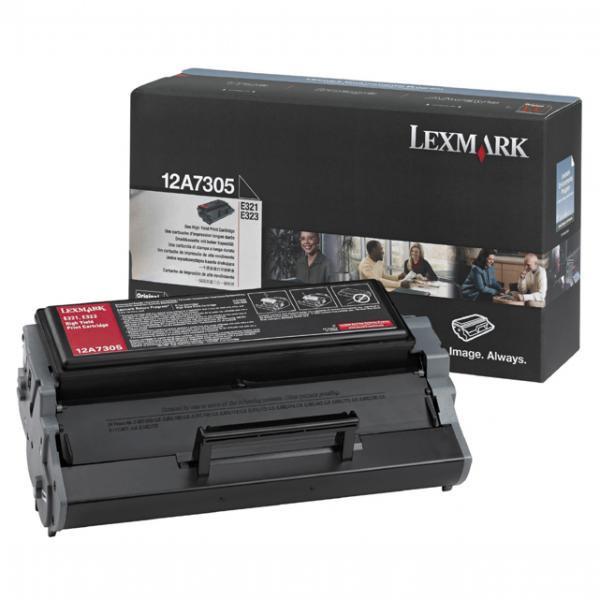 Lexmark originální toner 12A7305, black, 6000str., Lexmark E321, E323