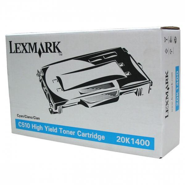 Lexmark originální toner 20K1400, cyan, 6600str., Lexmark C510