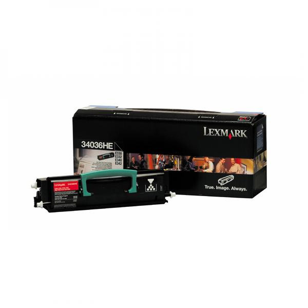 Lexmark originální toner 34036HE, black, 6000str., Lexmark E330, E332n, E340, E342n