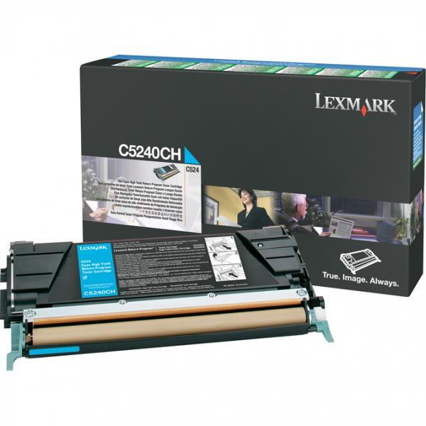 Lexmark originální toner C5240CH, cyan, 5000str., return, Lexmark C524