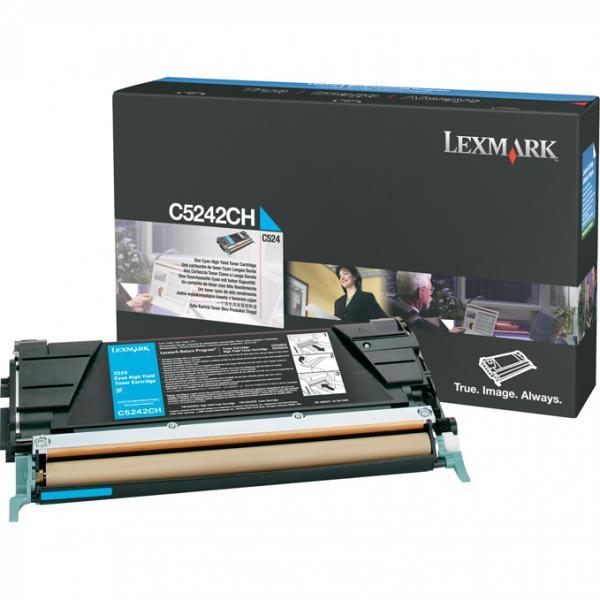 Lexmark originální toner C5242CH, cyan, 5000str., Lexmark C524