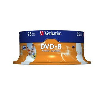 DVD-R Verbatim 4,7GB 16x Printable SPINDL
