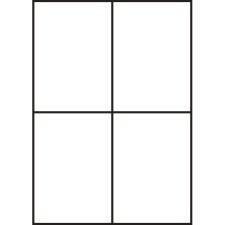 Levně Samolepicí etikety 105 x 148 mm, 4 etikety, A4, 100 listů