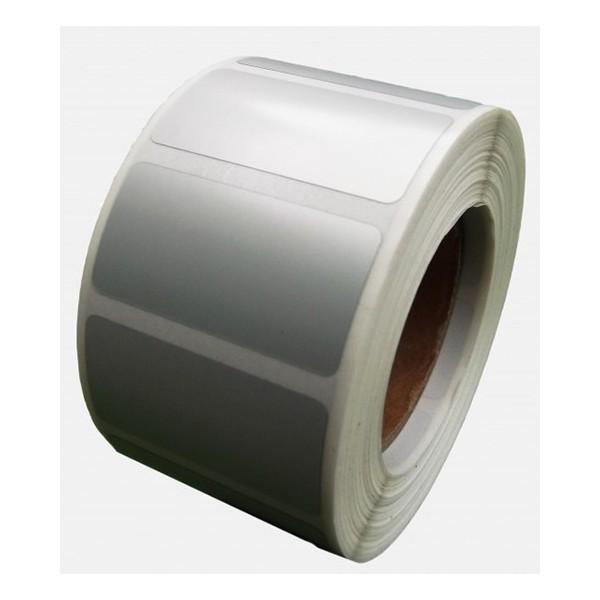 Samolepicí PP (polypropylen) etikety, 60x40mm, 1000ks, pro TTR, stříbrné, role