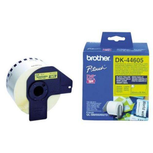 Brother DK-44605, 62mm x 30,48m, žlutá papírová role