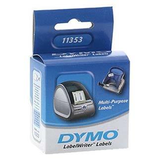 Dymo 11353, S0722530, 25mm x 13mm, bílé multifunkční papírové štítky Originálne termocitlivý etikety Dymo 11353.