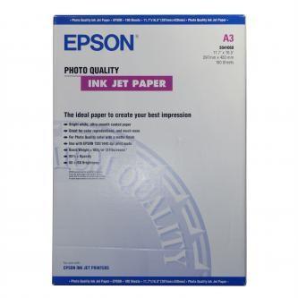 Epson S041068 Photo Quality InkJet Paper, foto papír, matný, bílý, A3, 105 g/m2, 720dpi, 100 ks, S04
