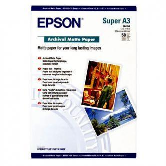 Epson S041340 Archival Matte Paper, bílá, 50, ks S041340, pro inkoustové tiskárny, 330x480mm (A3+),