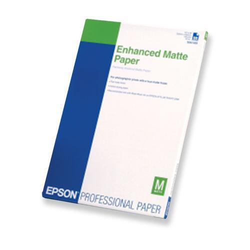 Epson C13S041718 Enhanced Matte Paper, bílá, 250, ks C13S041718, pro inkoustové tiskárny, 210x297mm (A4),