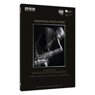 Epson Traditional Photo Paper, 610mmx914mm, 25-pack, C13S045053, 330 g/m2, papír, bílý, pro inkoustové tiskárny