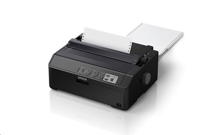 EPSON tiskárna jehličková LQ-590IIN, A3, 24 jehel, high speed draft 550 zn/s, 1+6 kopii, USB 2.0, Ethernet