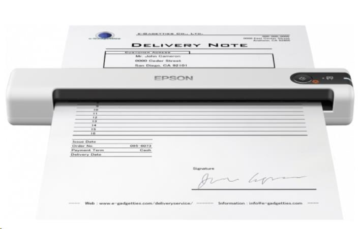 Epson skener WorkForce DS-70, A4, 600x600dpi, USB, mobilní