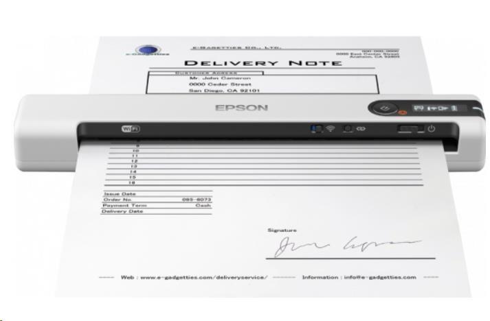 Epson skener WorkForce DS-80W, A4, 600x600dpi, USB, mobilní