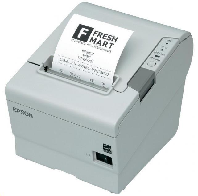 Epson TM-T88VI C31CE94102 pokladní tiskárna, USB + ether., buzzer, bílá, se zdrojem