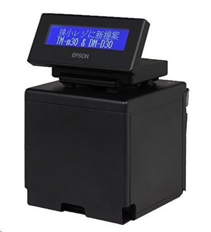 Epson TM-m30 bundle DM-D30 CE95122BD, pokladní tiskárna, USB, Ethernet, 80mm, 8 dots/mm (203 dpi), ePOS, black
