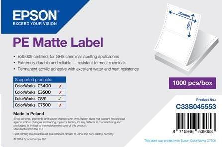 Levně Epson S045553 labels, synthetic, 203x152mm