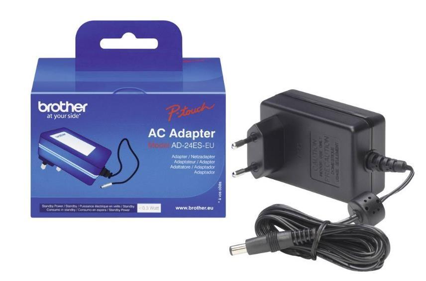 Brother Síťový adaptér pro PT - typ AD24ESEU (7-9.5V 1.6AMP) - pro všechny ruční P-TOUCH / nastupce