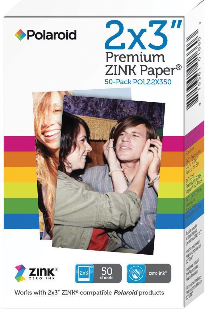"Polaroid Instant Zink Media 2x3"" 50ks POLZ2X350"