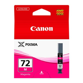 Canon PGI-72M, 6405B001 purpurová (magenta) originálna cartridge Originálne cartridge pre tlačiareň Canon.   Prečo kúpiť našu originálnu náplň Canon?      Originálne cartridge = záruka priamo od výrobcu tlačiarne 100% použitie v tlačiarni - spoľahlivá a bezproblémová tlač Použitím originálnej náplne predlžujete životnosť tlačiarne Osvedčená špičková kvalita - jasný a čitateľný text, jemná grafika, kvalitnejšie obrázky Použitie originálnej kazety ponúka rýchly a vysoký výkon a napriek tomu stabilné výsledky = EFEKTÍVNA TLAČ Jednoduchá inštalácia a údržba Zabezpečujeme bezplatnú recykláciu originálnych náplní Garancia Vašej spokojnosti pri použití našej originálnej náplne 6405B001