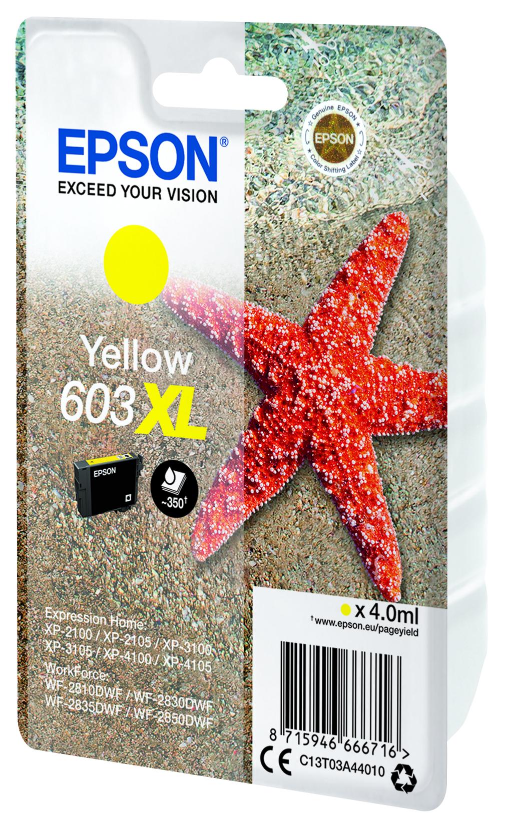 Epson 603XL žlutá (yellow) originální cartridge