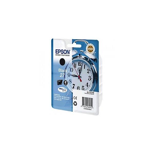 Epson T27014012, 27 čierna (black) originálna cartridge Originálne cartridge pre tlačiareň Epson.   Prečo kúpiť našu originálnu náplň Epson?      Originálne cartridge = záruka priamo od výrobcu tlačiarne 100% použitie v tlačiarni - spoľahlivá a bezproblémová tlač Použitím originálnej náplne predlžujete životnosť tlačiarne Osvedčená špičková kvalita - jasný a čitateľný text, jemná grafika, kvalitnejšie obrázky Použitie originálnej kazety ponúka rýchly a vysoký výkon a napriek tomu stabilné výsledky = EFEKTÍVNA TLAČ Jednoduchá inštalácia a údržba Zabezpečujeme bezplatnú recykláciu originálnych náplní Garancia Vašej spokojnosti pri použití našej originálnej náplne C13T27014012