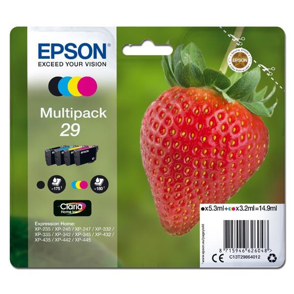 Epson originální ink C13T29864012, T29, CMYK, 5, 3/3x3, 2ml, Epson Expression Home XP-235, XP-332, XP-335, XP-432, XP-435