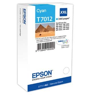 Epson T70124010 azúrová (cyan) originálna cartridge Originálne cartridge pre tlačiareň Epson.   Prečo kúpiť našu originálnu náplň Epson?      Originálne cartridge = záruka priamo od výrobcu tlačiarne 100% použitie v tlačiarni - spoľahlivá a bezproblémová tlač Použitím originálnej náplne predlžujete životnosť tlačiarne Osvedčená špičková kvalita - jasný a čitateľný text, jemná grafika, kvalitnejšie obrázky Použitie originálnej kazety ponúka rýchly a vysoký výkon a napriek tomu stabilné výsledky = EFEKTÍVNA TLAČ Jednoduchá inštalácia a údržba Zabezpečujeme bezplatnú recykláciu originálnych náplní Garancia Vašej spokojnosti pri použití našej originálnej náplne C13T70124010