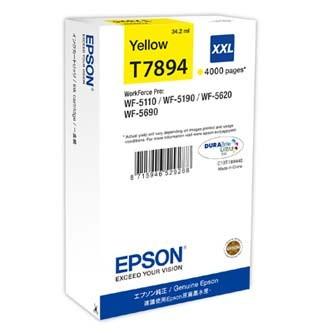 Epson T789440 žltá (yellow) originálna cartridge.   Prečo kúpiť našu originálnu náplň Epson?      Originálne cartridge = záruka priamo od výrobcu tlačiarne 100% použitie v tlačiarni - spoľahlivá a bezproblémová tlač Použitím originálnej náplne predlžujete životnosť tlačiarne Osvedčená špičková kvalita - jasný a čitateľný text, jemná grafika, kvalitnejšie obrázky Použitie originálnej kazety ponúka rýchly a vysoký výkon a napriek tomu stabilné výsledky = EFEKTÍVNA TLAČ Jednoduchá inštalácia a údržba Zabezpečujeme bezplatnú recykláciu originálnych náplní Garancia Vašej spokojnosti pri použití našej originálnej náplne C13T789440