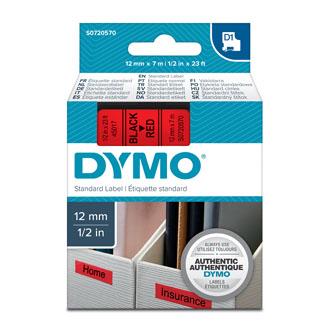Dymo D1 45017, S0720570, 12mm x 7m, čierna tlač / červený podklad, originálna páska Originálna páska pre štítkovač Dymo. Prečo kúpiť našu originálnu pásku Dymo D1?    Originálna kazeta s páskou = záruka kvality priamo od výrobcu tlačiarne štítkov 100% použitie so štítkovačom - bezproblémové fungovanie Originálne samolepiace pásky zaručujú veľmi jednoduchú aplikáciu Osvedčená špičková kvalita - čitateľný a ostrý text Pásky sú odolné proti vode, UV žiareniu, oderu alebo extrémnym teplotám Jednoduchá a rýchla výmena Ideálne do kancelárie i domácnosti Garancia Vašej spokojnosti pri použití našej originálnej pásky 45017