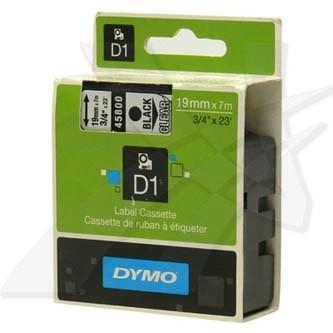 Dymo D1 45800, S0720820, 19mm x 7m, čierna tlač/priehľadný podklad, originálna páska Originálna páska pre štítkovač Dymo. Prečo kúpiť našu originálnu pásku Dymo D1?    Originálna kazeta s páskou = záruka kvality priamo od výrobcu tlačiarne štítkov 100% použitie so štítkovačom - bezproblémové fungovanie Originálne samolepiace pásky zaručujú veľmi jednoduchú aplikáciu Osvedčená špičková kvalita - čitateľný a ostrý text Pásky sú odolné proti vode, UV žiareniu, oderu alebo extrémnym teplotám Jednoduchá a rýchla výmena Ideálne do kancelárie i domácnosti Garancia Vašej spokojnosti pri použití našej originálnej pásky 45800
