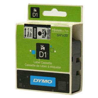Dymo D1 45800, S0720820, 19mm x 7m, čierna tlač/priehľadný podklad, originálna páska Originálna páska pre štítkovač Dymo. Prečo kúpiť našu originálnu pásku Dymo D1?    Originálna kazeta s páskou = záruka kvality priamo od výrobcu tlačiarne štítkov 100% použitie so štítkovačom - bezproblémové fungovanie Originálne samolepiace pásky Dymo D1 zaručujú veľmi jednoduchú aplikáciu Osvedčen