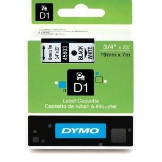 Dymo 45803, S0720830, 19mm x 7m, čierna tlač / biely podklad, originálna páska Originálna páska pre štítkovač Dymo. Prečo kúpiť našu originálnu pásku Dymo D1?    Originálna kazeta s páskou = záruka kvality priamo od výrobcu tlačiarne štítkov 100% použitie so štítkovačom - bezproblémové fungovanie Originálne samolepiace pásky Dymo D1 zaručujú veľmi jednoduchú aplikáciu Osvedčen