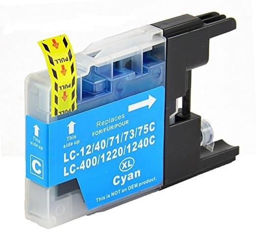 Brother LC-1240 / LC-1280 azurová (cyan) kompatibilní cartridge