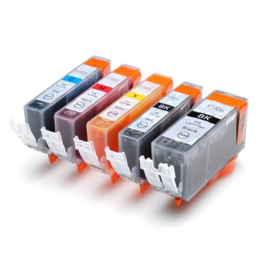 Canon CLI-521 Bk, C,M,Y + PGI-520Bk multipack kompatibilní cartridge