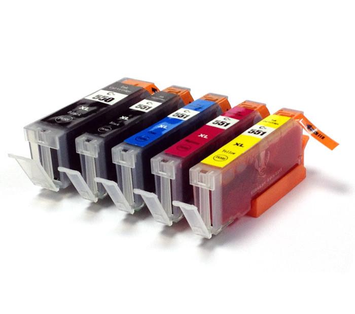 Canon CLI-551 Bk, C,M,Y + PGI-550Bk multipack kompatibilní cartridge
