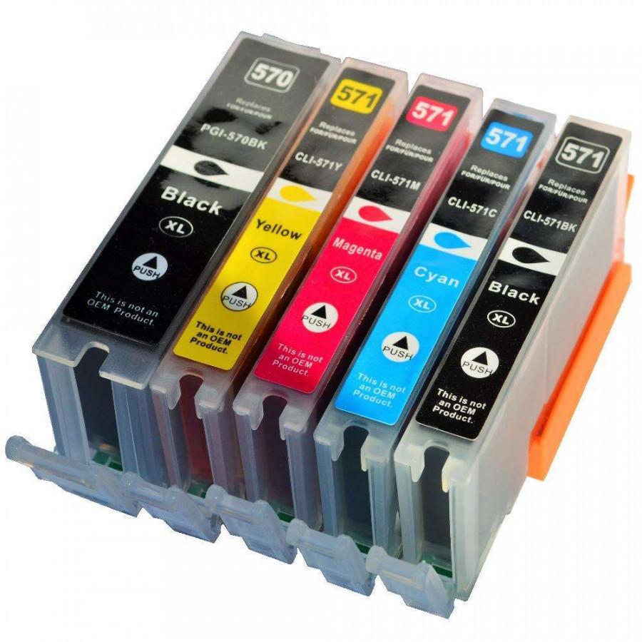 Canon CLI-571 Bk, C,M,Y + PGI-570Bk multipack kompatibilní cartridge