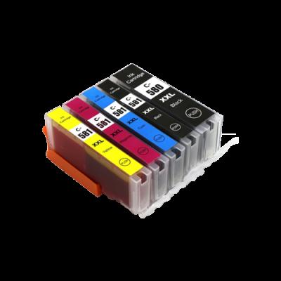 Canon CLI-581XXL Bk, C,M,Y + PGI-580XXLBk multipack kompatibilní cartridge