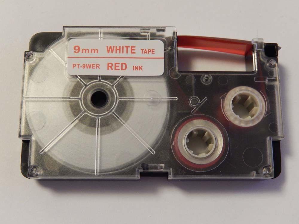 Kompatibilná páska s Casio XR-9WER 9mm x 8m červená tlač / biely podklad Čo získate kúpou našej Chytré pásky?  Nižšia cena kompatibilnej pásky pre štítkovač Casio v porovnaní s originálnou páskou.Úspora Vašich finančných prostriedkov vo výške až 80 %.   Garancia spokojnosti.   Zaručujeme špičkovú kvalitu, overenú našimi dlhoročnými zákazníkmi.   Kompatibilné pásky pre