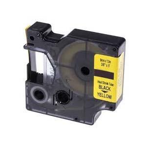 Levně Kompatibilní páska s Dymo 18054, S0718290, 9mm x 1, 5m černý tisk / žlutý podklad