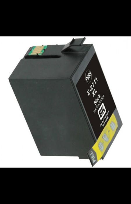 Epson T2711 čierna (black) kompatibilná cartridge Alternatívne označenie cartridge:  C13T27114010;C13-T27114010;C13 T27114010;T27114010;C13T271140;E2711;TO2711;T27114010  Prečo kúpiť našu Chytrú náplň?  Cena kompatibilnej náplne pre tlačiarne Epson je nižšia ako u originálnej, ušetríte až 80 % nákladov na tlač.   Alternatívna cartridge pre tlačiarn