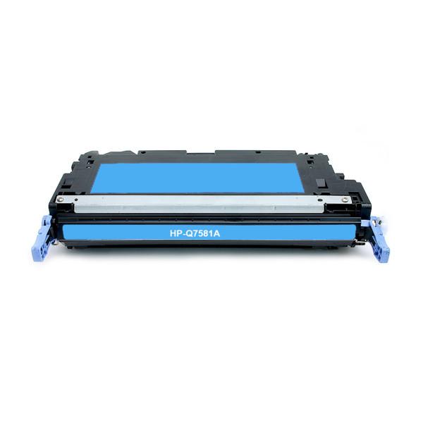 HP 503A Q7581A azúrový (cyan) kompatibilný toner.  Nižšia cena kompatibilnej náplne pre tlačiarne HP v porovnaní s originálnou náplňou, ušetríte až 80 % nákladov na tlač.   Tonerová cartridge pre tlačiarne HP vytlačí rovnaký počet strán ako originál pri zachovaní rovnakej kvality - ostré črty, sýte farby.   Garancia Vašej spokojnosti.   Každý toner prechádza pri výrobe prísnou kontrolou kvality a je plne kompatibilný s vašou tlačiarňou.   Overené našimi klientmi zo SR aj z Európskej únie.   Kompatibilné tonery HP spĺňajú normu STMC, čo je celosvetovo uznávaná norma testovania kvality tlače a počtu vytlačených strán tonerovej kazety.   Naši dodávatelia sú preverení rokmi skúseností a vyrábajú produkty podľa normy ISO 9001 a ISO 14001.    Existuje mnoho výrobcov kompatibilných náplní, ale kvalita môže byť odlišná. Kód výrobca: Q7581A