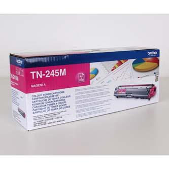 Brother TN-245M purpurový (magenta) originálný toner Originálny toner pre tlačiareň Brother.   Prečo kúpiť našu originálnu náplň?      Originálny toner = záruka priamo od výrobcu tlačiarne 100% použitie v tlačiarni - bezproblémové fungovanie s vašou tlačiarňou Použitím originálnej náplne predlžujete životnosť tlačiarne Osvedčená špičková kvalita - vysokokvalitná a spoľahlivá tlač originálnou tlačovou kazetou od prvej do poslednej stránky Trvalé a profesionálne výsledky tlače - dlhodobá udržateľnosť tlače Kratšie zdržanie pri tlači stránok Garancia Vašej spokojnosti pri použití našej originálnej náplne Zabezpečujeme bezplatnú recykláciu originálnych náplní Zlyhanie náplne v menej ako 1% prípadov Jednoduchá a rýchla výmena náplne TN245M