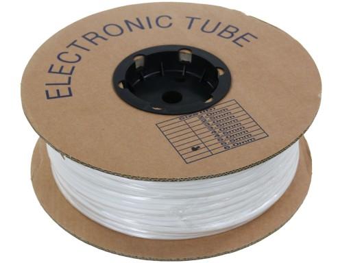 Popisovací PVC bužírka kruhová BA-30, 3 mm, 200 m, bílá