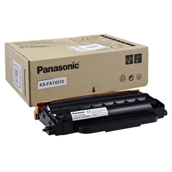 Panasonic originální toner KX-FAT431X, black, 6000str., Panasonic KX-MB2230,KX-MB2270,KX-MB2515,KX-MB2545,KX-MB2575