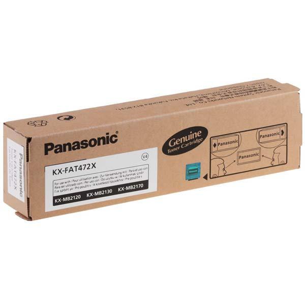 Panasonic originální toner KX-FAT472X, black, 2000str., Panasonic KX-MB2120, KX-MB2130, KX-MB2170